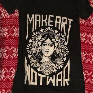 Make Art Not War Obey T-Shirt Zumies PacSun Obey